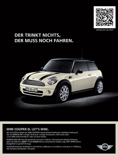 QR Code Minimalism - Mini und der QR Code