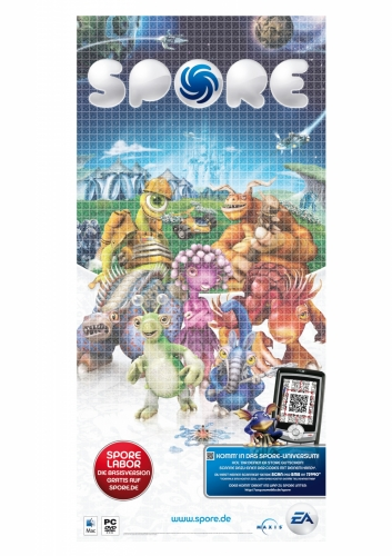 QR Code for Spore (Electronic Arts). Campaign: Mindmatics / Kaywa